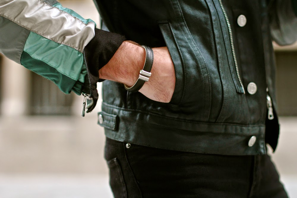 Bracelet cuir Swarovski Antonio Ben CHimol - leather - blog mode homme mensfashion