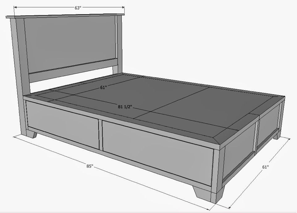 Beds Information The Queen Size Bed Dimensions in Feet