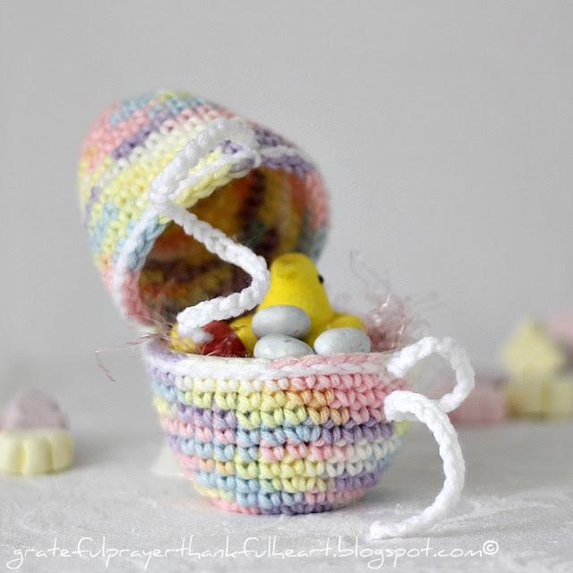 3 Huevos de Pascua de Crochet