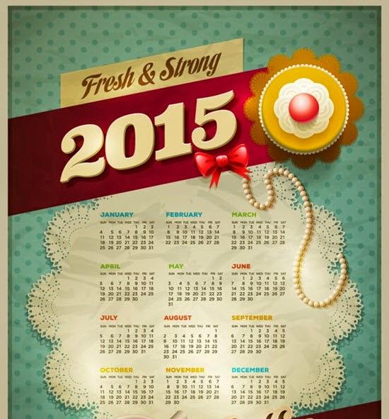 2015 goat calendars vector