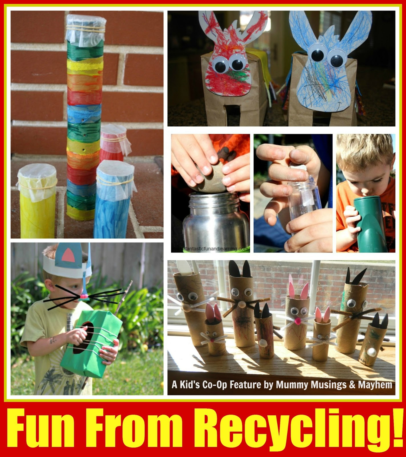 Weekly kids co op fun with recycling the empowered for Interesting recycling ideas