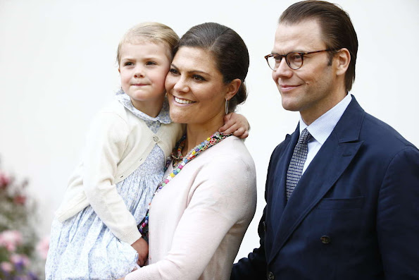 Princess Victoria of Sweden and Prince Daniel and Princess Estelle of Sweden