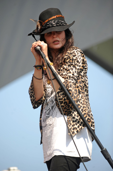 Alison Mosshart of The Kills and my favorite, The Dead Weather, is a