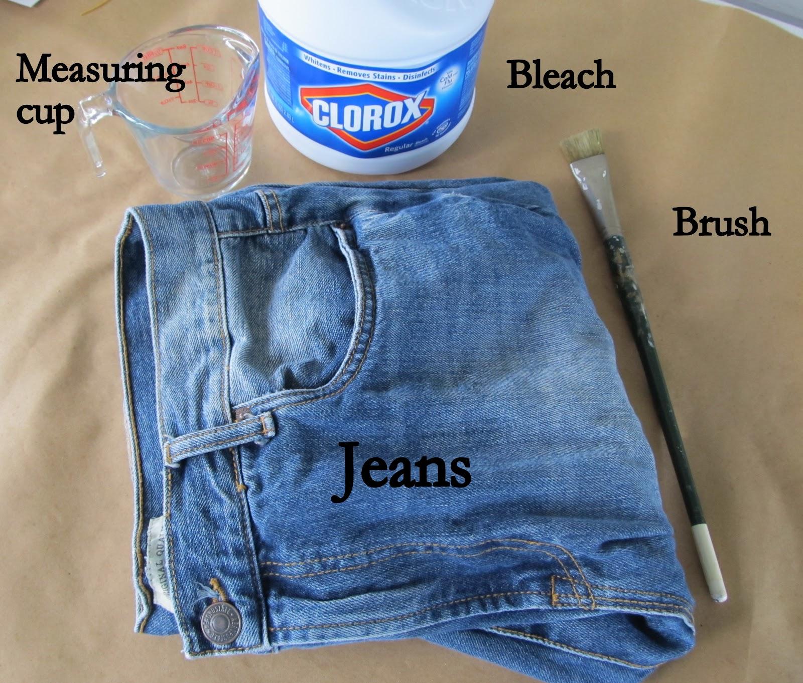WobiSobi: Bleached Jeans DIY
