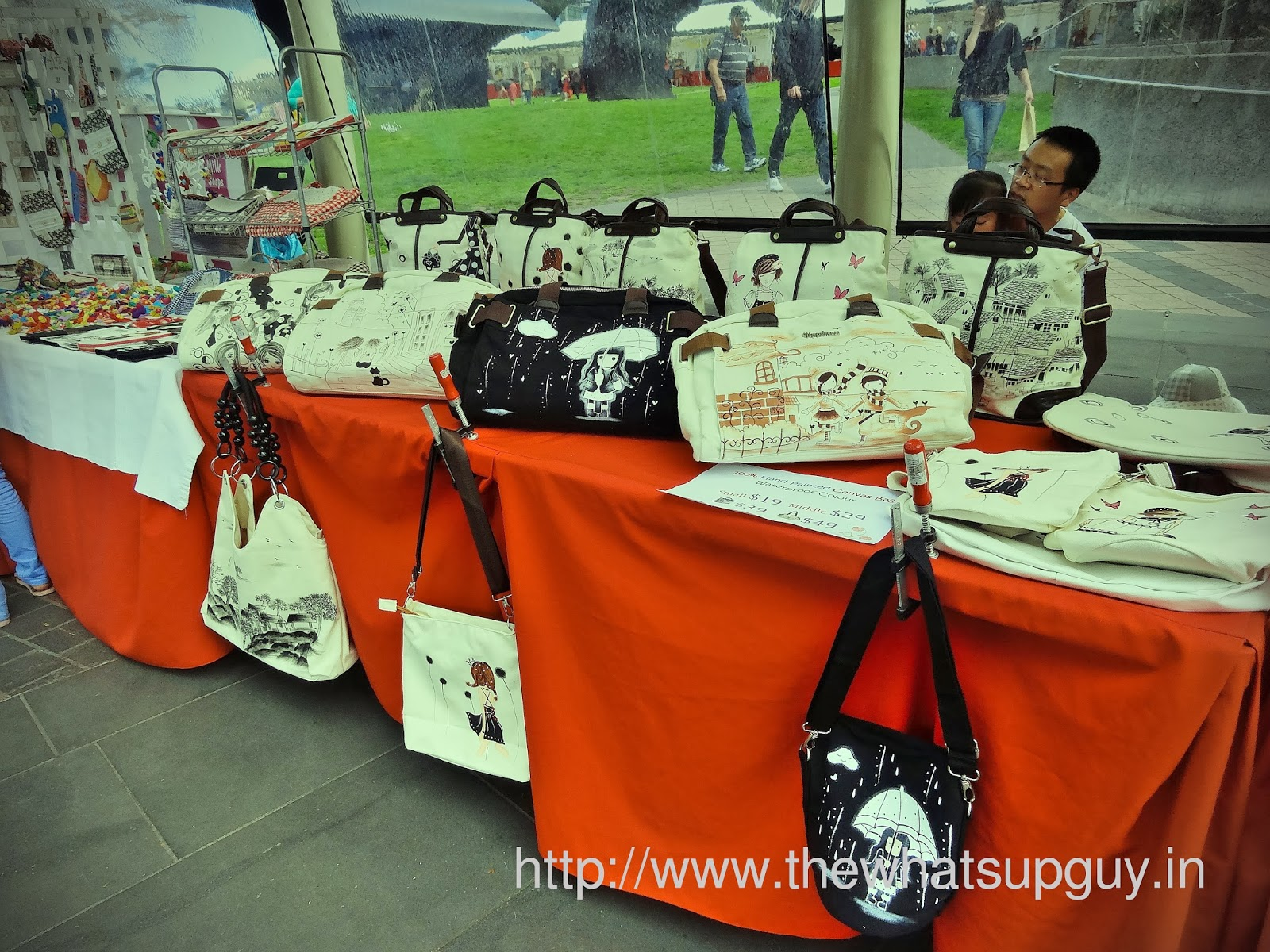 Bags in Sunday Market