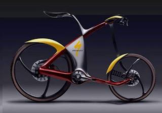 ... sepeda dari pada sepeda motor yang kurang ramah lingkungan untuk