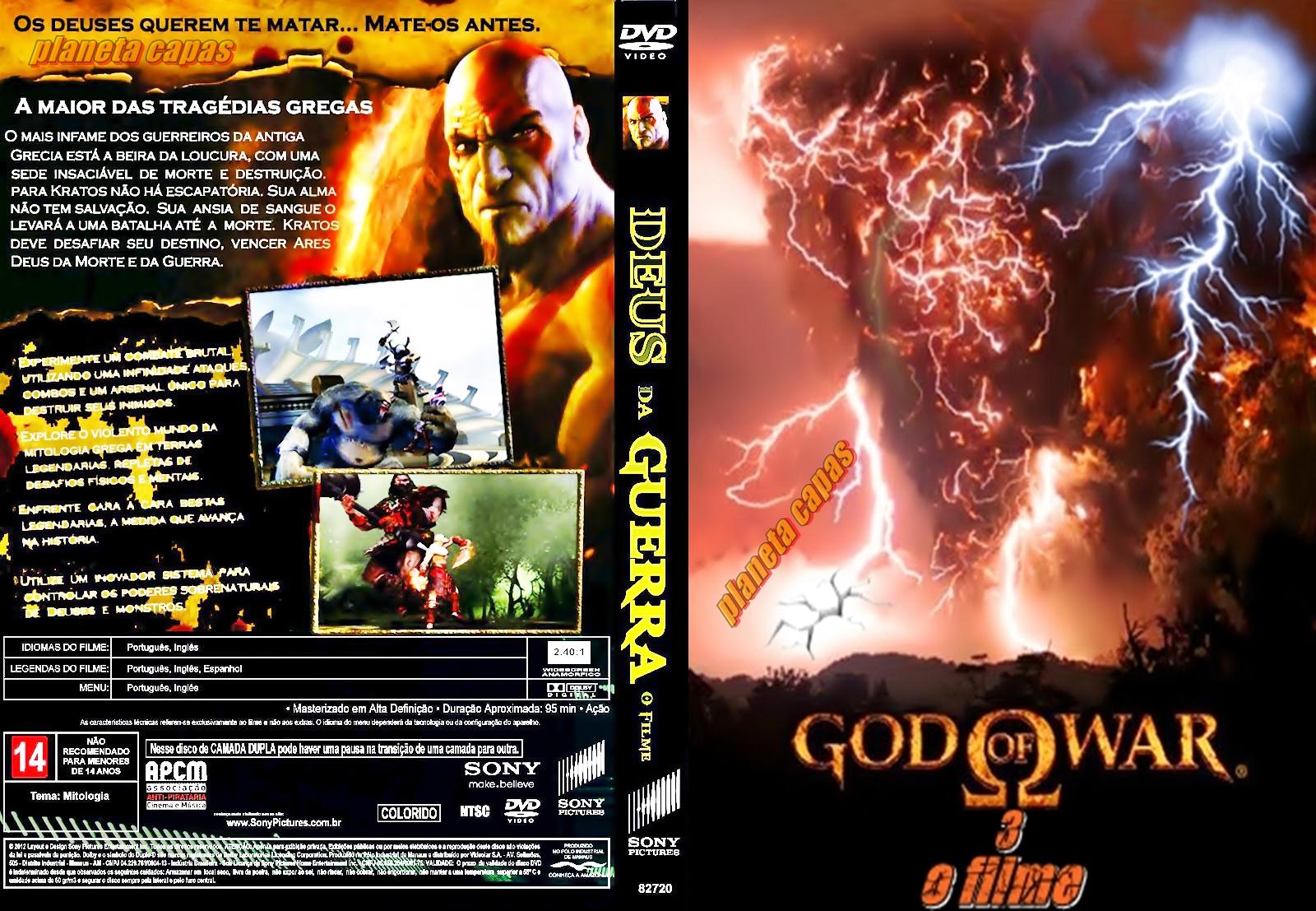 Dvd God of War 3 God of War 3 o Filme Deus da
