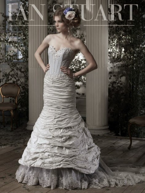 burlesque wedding gown by Ian Stuart