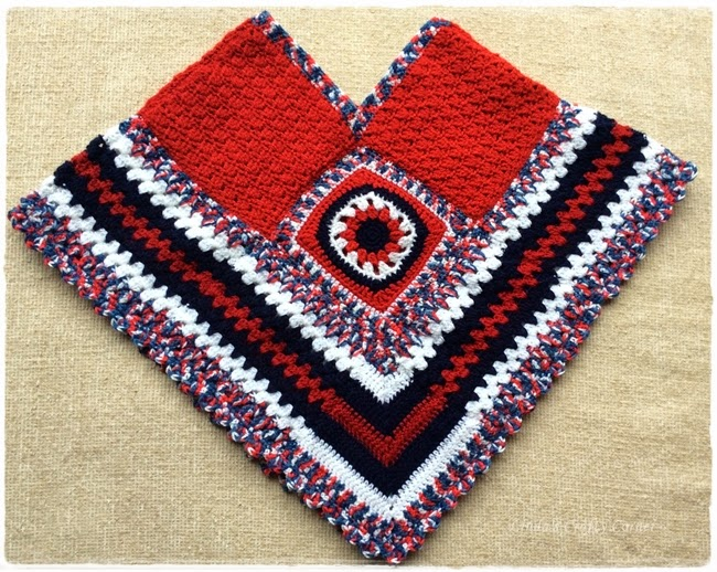 crochet, poncho, easy,