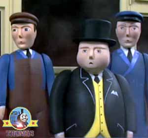 Thomas the tank engine and the Fat Controller was cross hot toast and jam or crumpets for breakfast