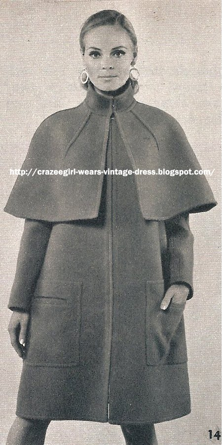 Wool cape - Fouks - 1967 60s 1960