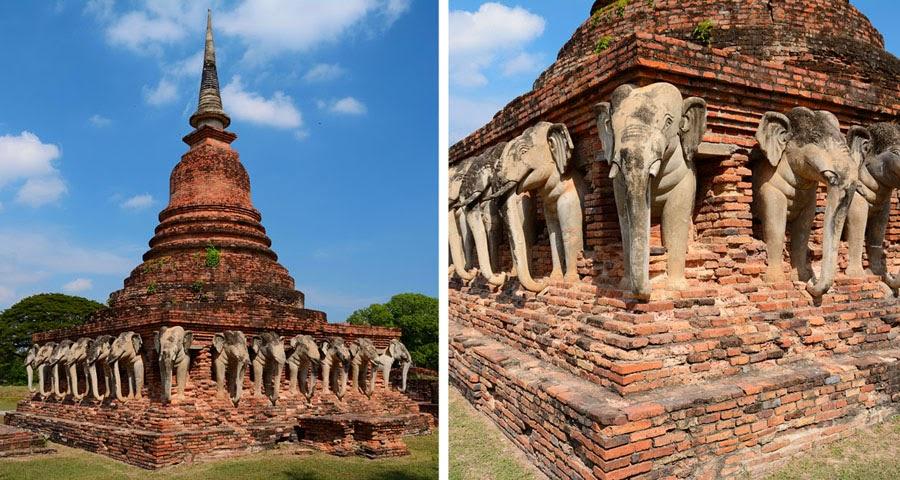 Wat Chang Lom, Sukhothai