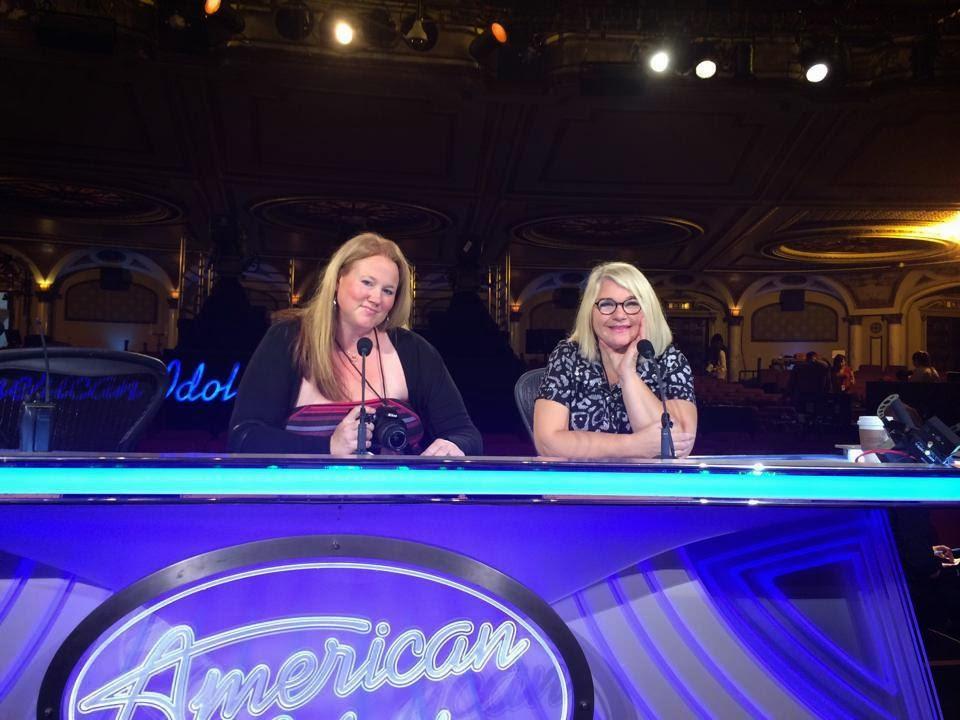 Meg Hodson and Elizabeth Traub at American Idol Hollywood Week IdolTweethearts