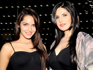 Shazahn And Zarine for promotion of Housefull 2 movie
