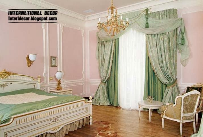 luxury curtains for bedroom latest curtain ideas for bedroom international decoration. Black Bedroom Furniture Sets. Home Design Ideas