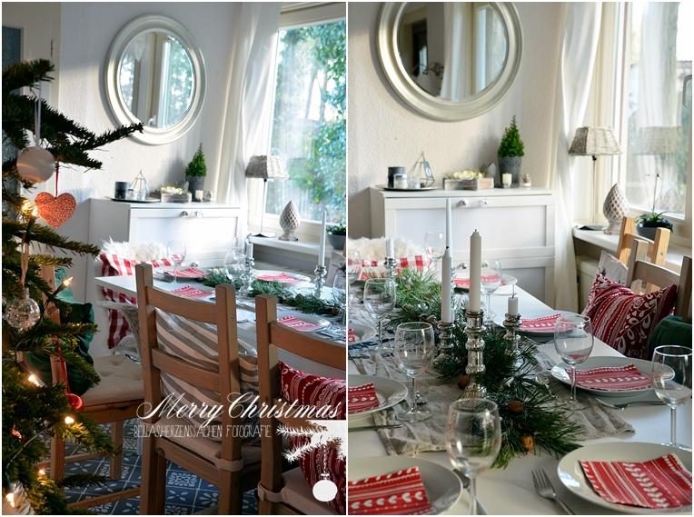 weihnachtliches Esszimmer Festmahl Weihnachten