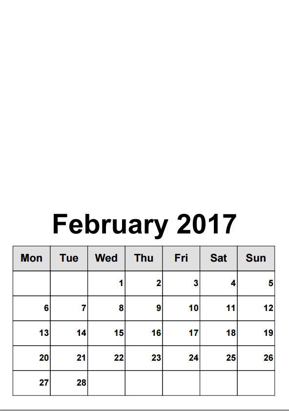 kalender februari 2017