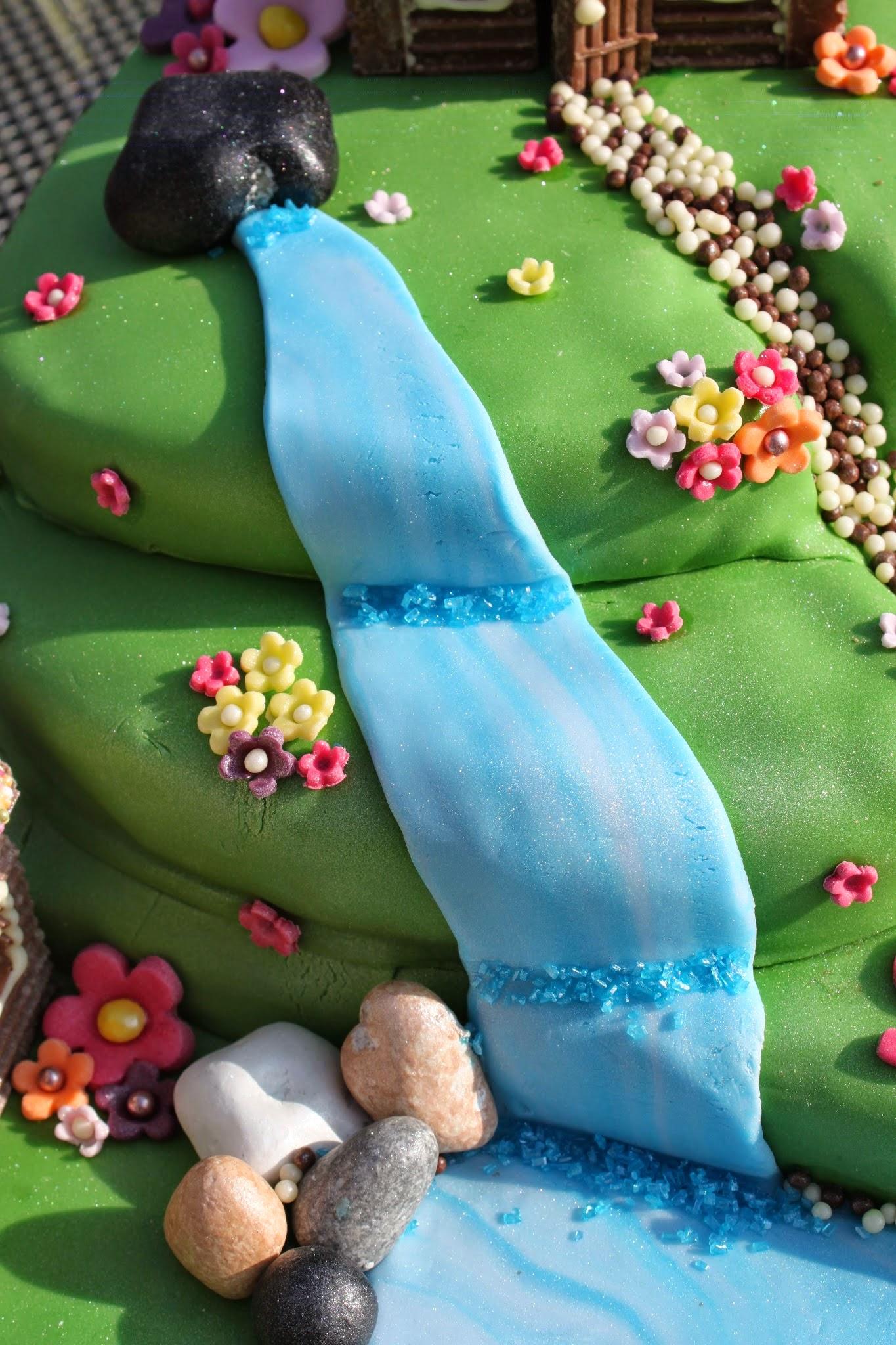 cake, alpine village, chocolate, chocolate house