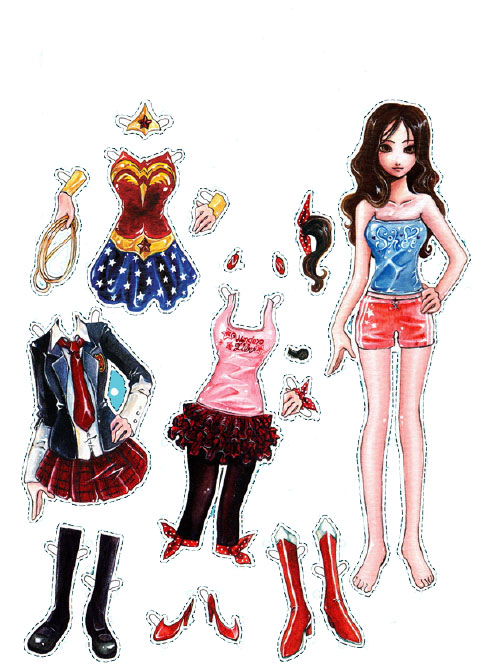 Kids Under 7 New Paper Dolls with Clothes