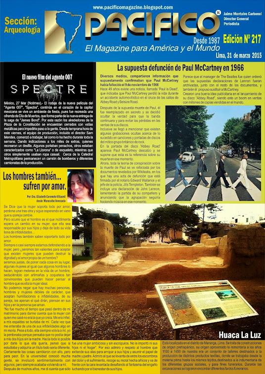 Revista Pacífico Nº 217 Arqueología