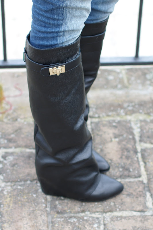 Choies fold over knee boots