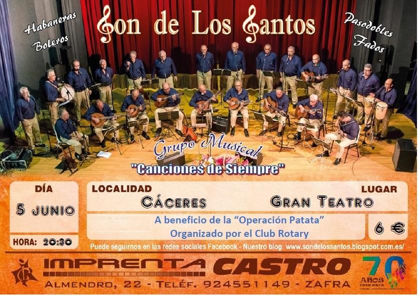 Concierto mes de junio 2016 Concierto en Cáceres: 5 de junio