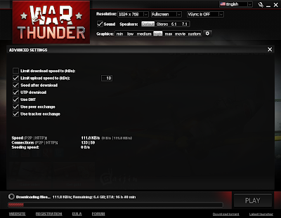 War Thunder - Download Speed