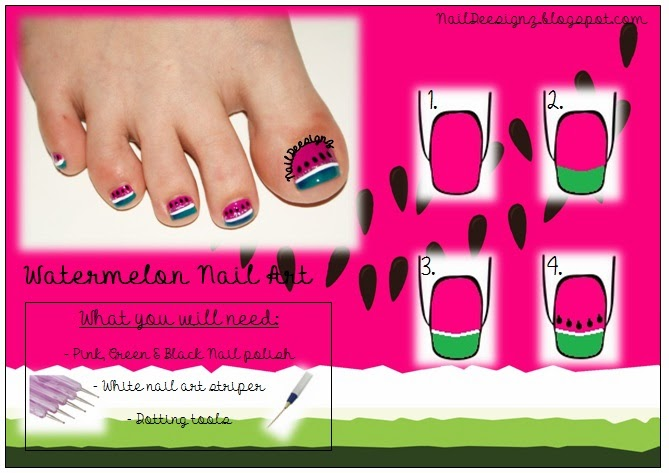 http://www.naildeesignz.blogspot.co.uk/2014/05/watermelon-pedicure.html