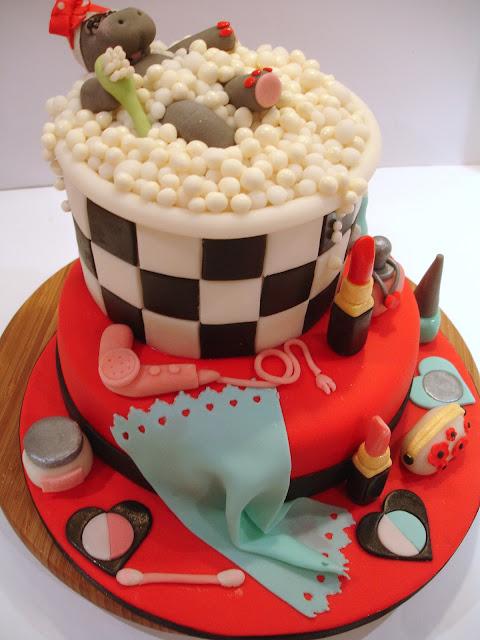 tarta decorada fondant hipopotamo