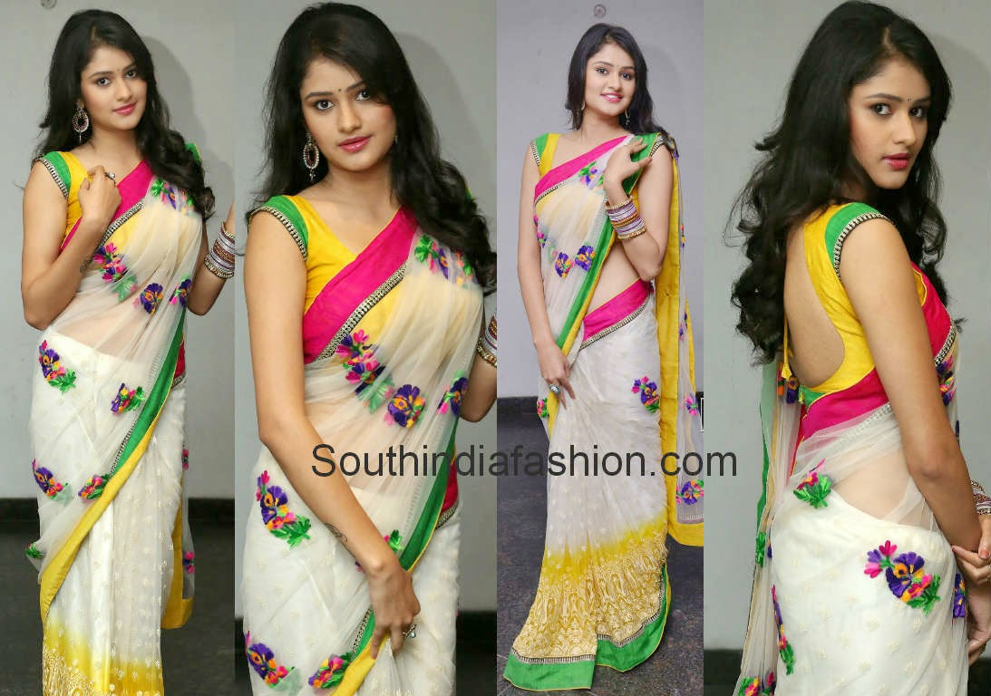 kushi in white saree at ala ela audio function