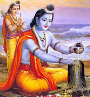 Sri rama offering milk to Lord Shiva lingam