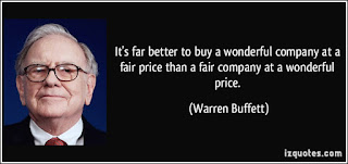 Quotes Warren Buffet tentang wonderful company