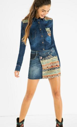 falda vaquera Exotic Jeans Desigual
