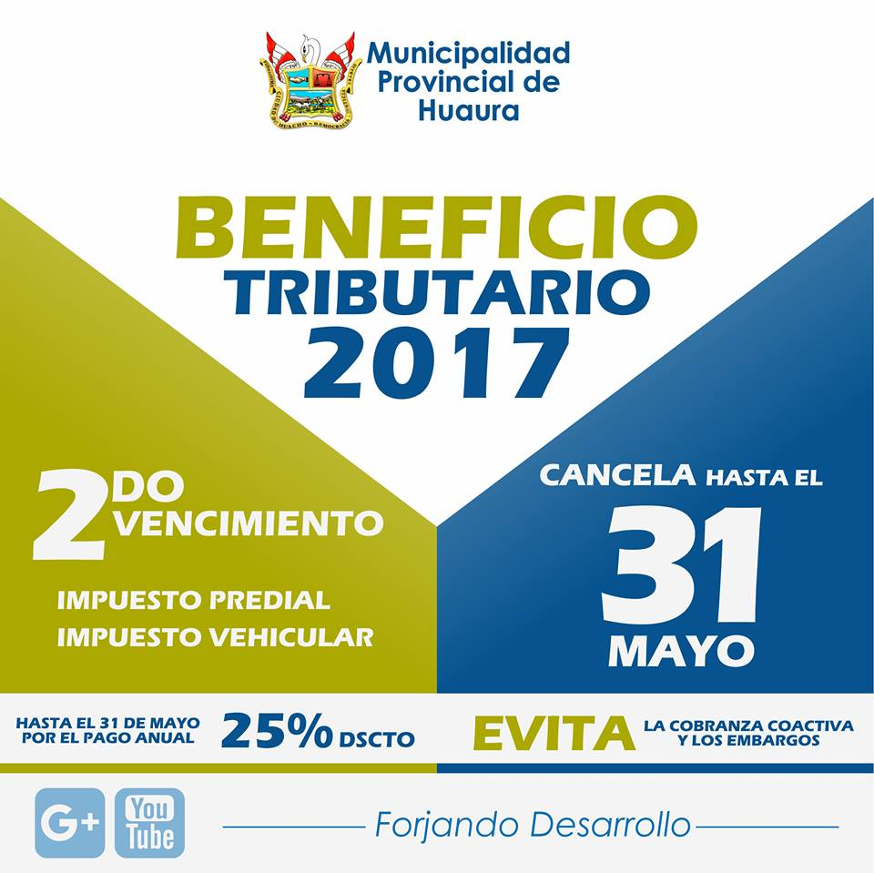BENEFICIO TRIBUTARIO 2017