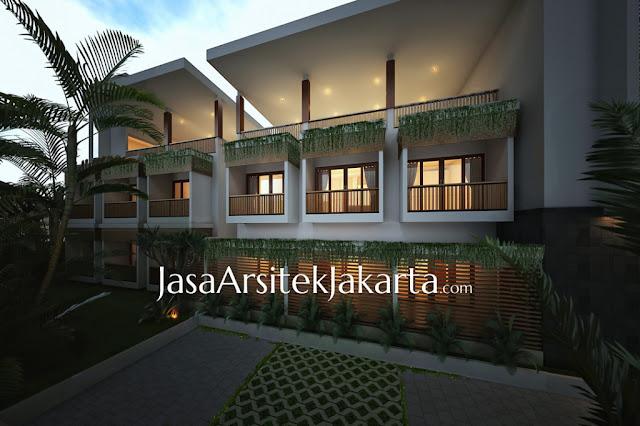 Desain Homestay oleh Jasa Arsitek Jakarta - Tampak Depan