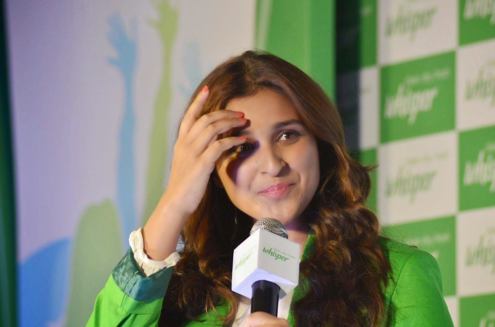 Actress Parineeti Chopra unveils the all new Whisper campaign