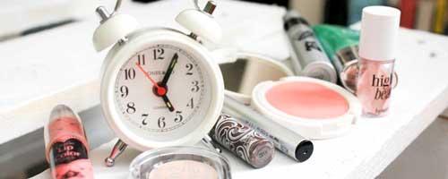 ordenar maquillaje reloj