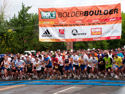 Boulder Boulder 5k, 10, and half marathon in Boulder, CO #Colorado #ColorfulColorado www.thebrighterwriter.blogspot.com