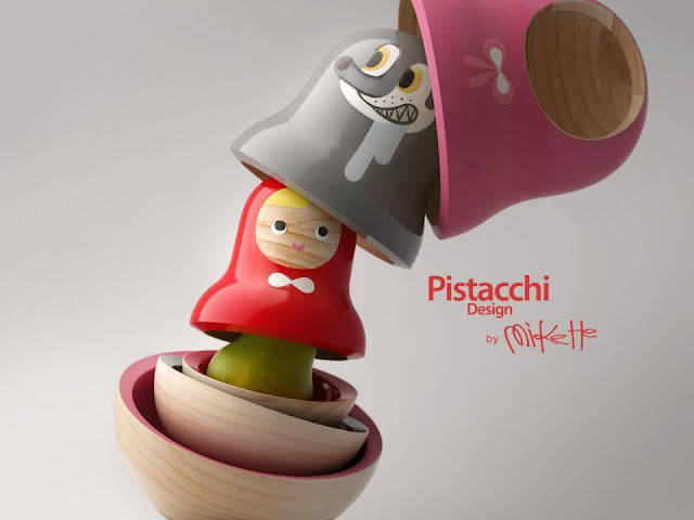 matryoshka red riding hood pistacchi Little Red Riding Hood   Pistacchi Design