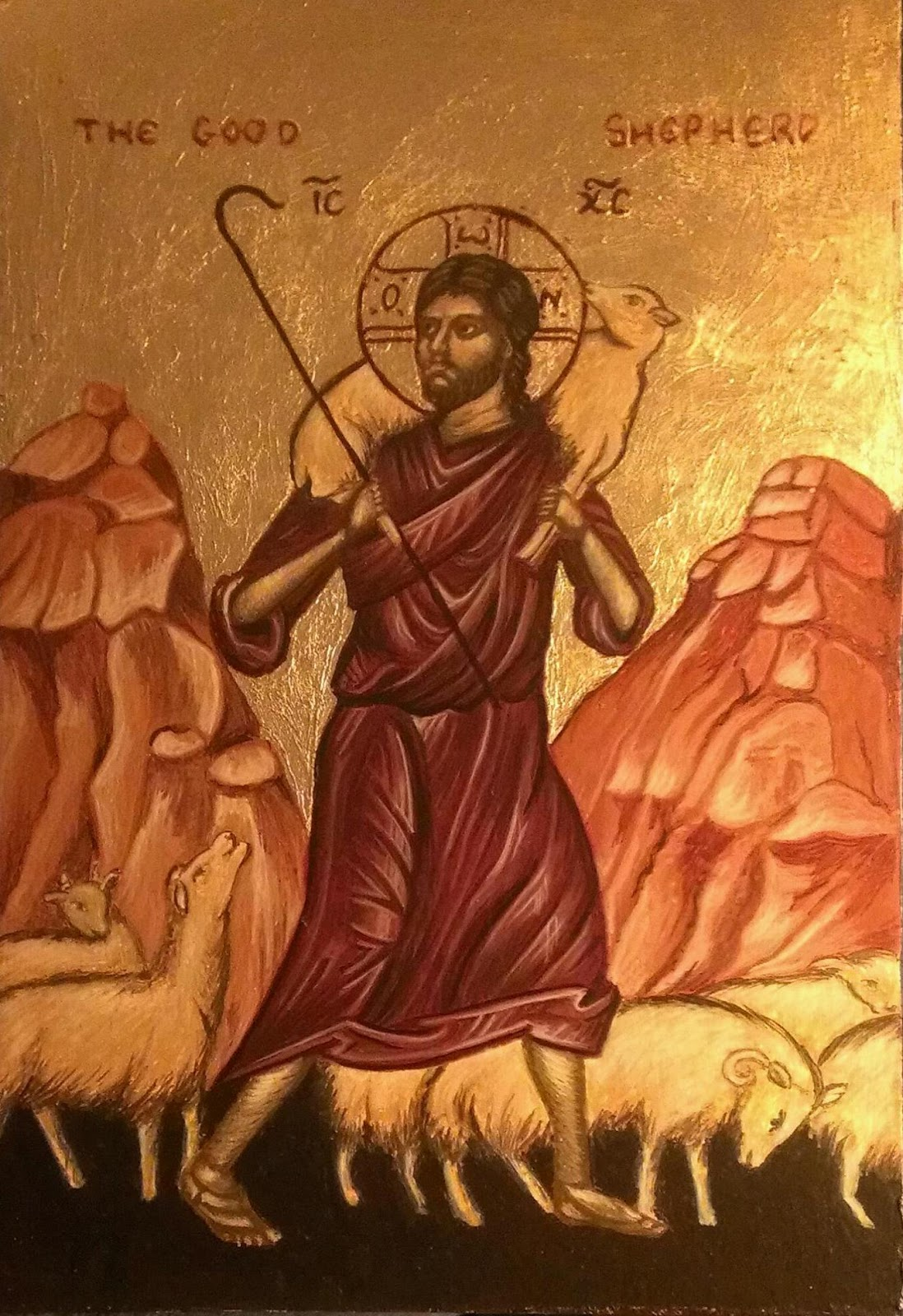The good shepherd icon this is the good shepherd icon i have recently