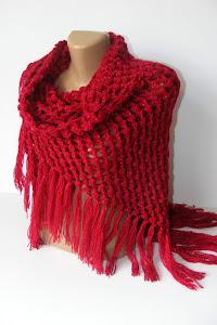 *** maroon shawl ***