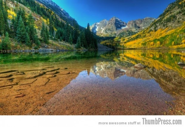 Mountain Lake Maroon Bells, Colorado, USA picture
