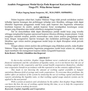 Jurnal Ilmiah Analisis Penggunaan Modal Kerja Koperasi Download