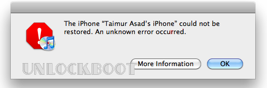 iPhone Error fix