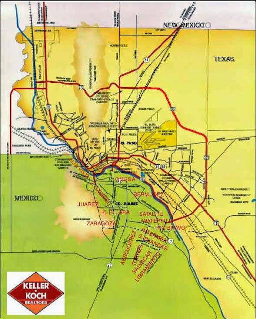 Map of Juarez, Mexico