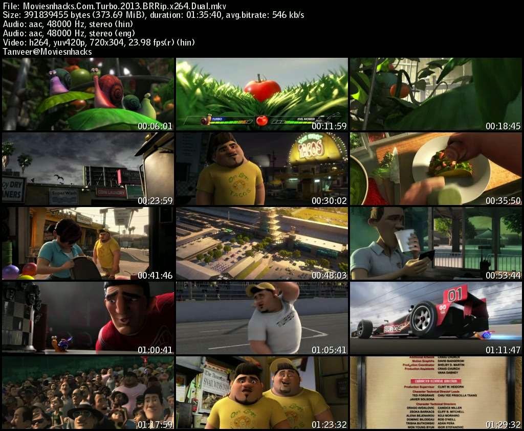 Turbo (2013) BRRip x264 Dual Audio {English - Hindi}