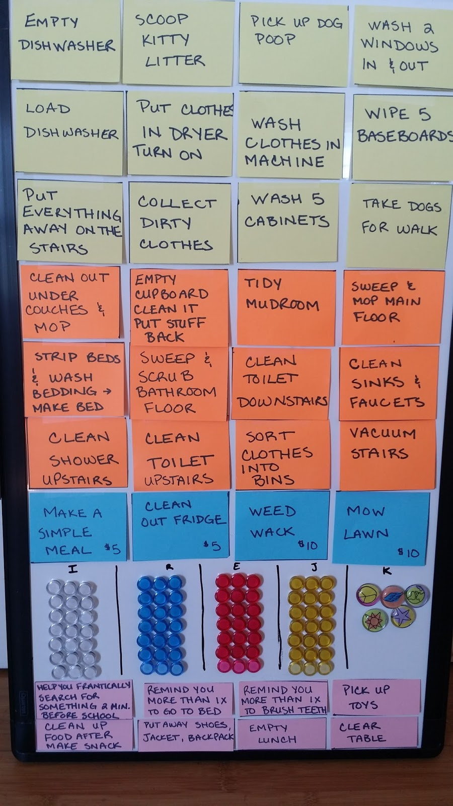 chore charts for large families chore charts