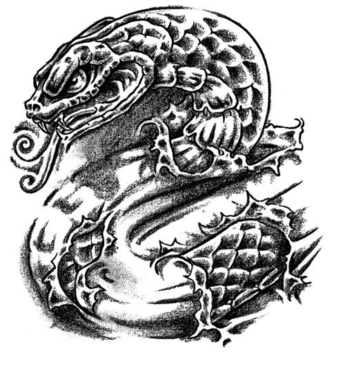 Snakes snakes tattoo for Black mamba tattoo