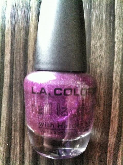 Purple Sparkle nail polish