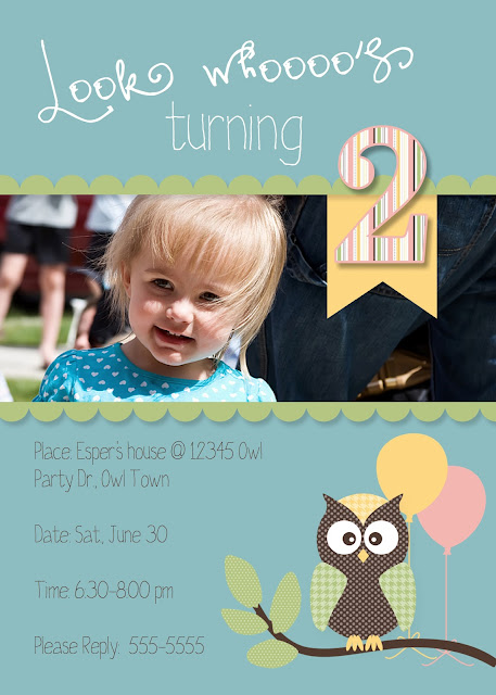 owl birthday party, owl invitation